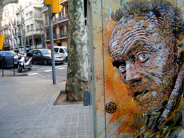 c215 7 Graffiti Stencil Art by Street Artist C215
