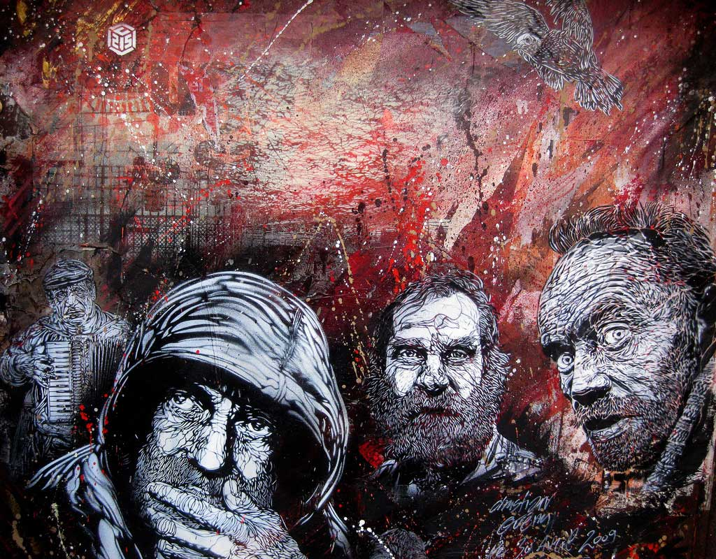 c215 paris vitry Graffiti Stencil Art by Street Artist C215