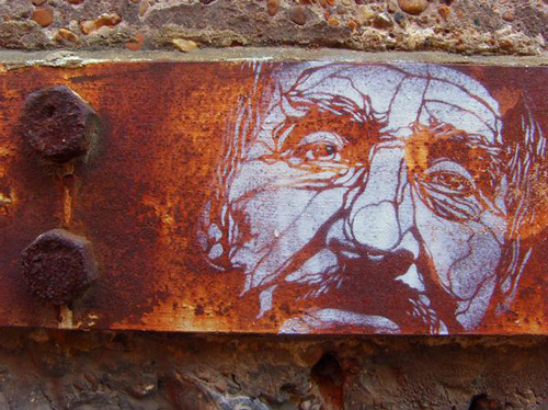 c215 01 Graffiti Stencil Art by Street Artist C215