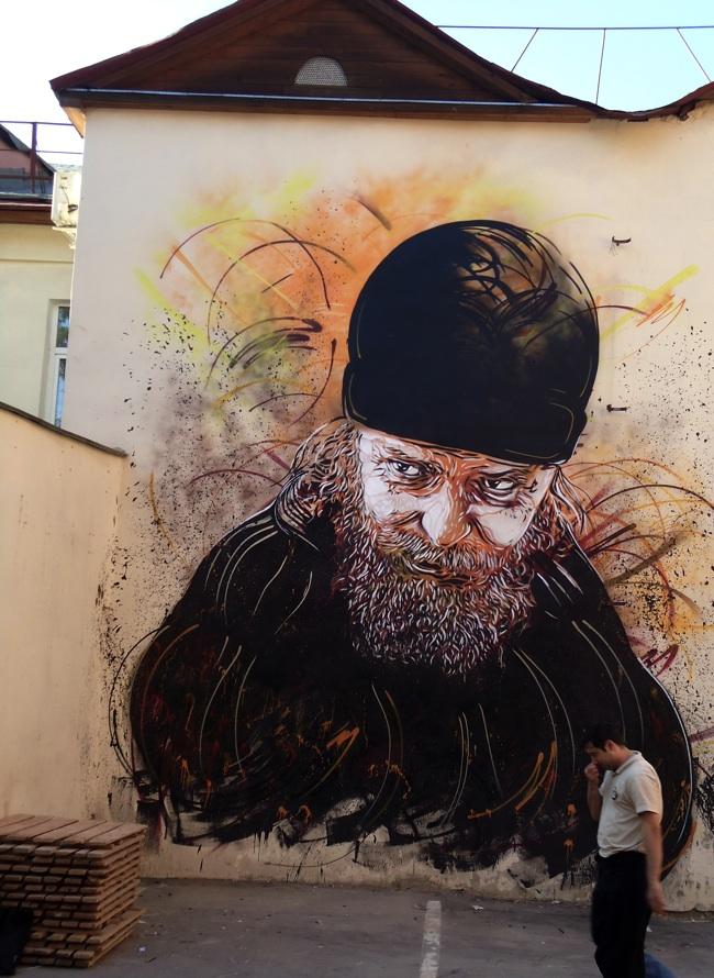 c215 moscow 2 u Graffiti Stencil Art by Street Artist C215