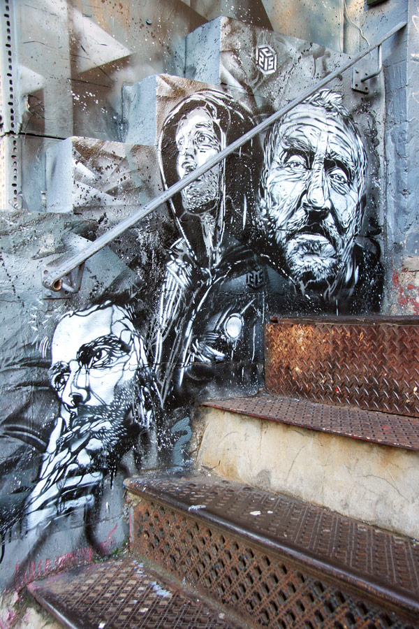c215 nyc nov09 2 u Graffiti Stencil Art by Street Artist C215