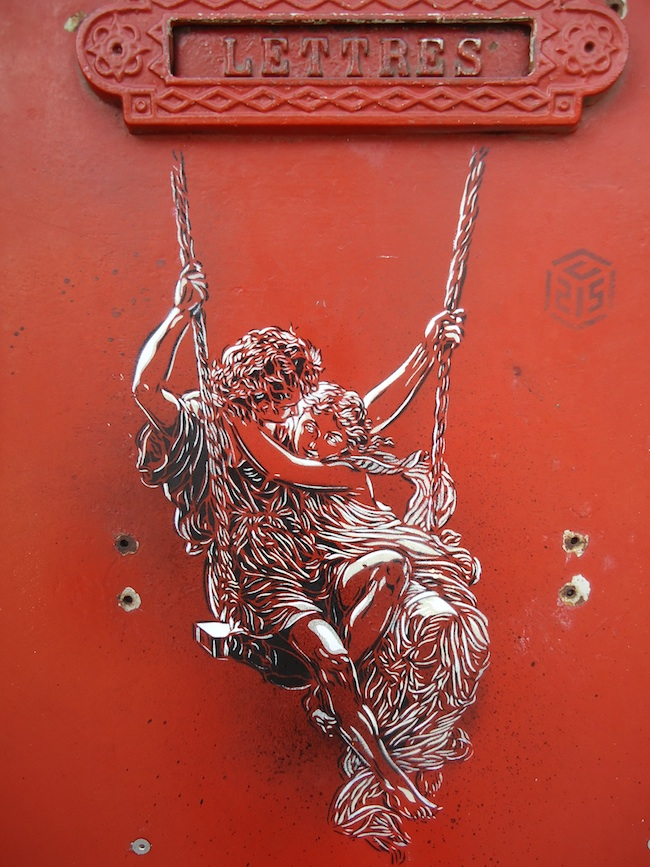 c215 paris for the sake of love feb11 1 u Graffiti Stencil Art by Street Artist C215