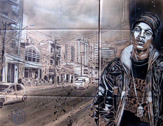 c215am0004 Graffiti Stencil Art by Street Artist C215