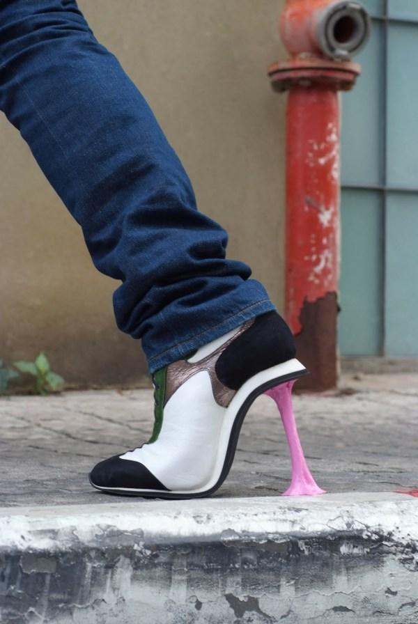 chewinggumsidewalk1 Artistic Footwear Designs by Kobi Levi