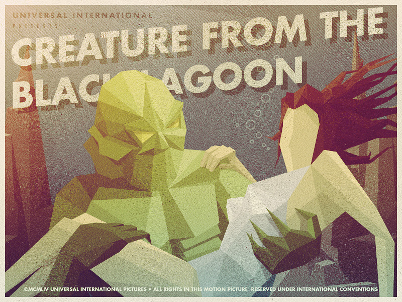 creaturefromtheblacklagoon 900 Epic Illustrations by Justin Mezzell