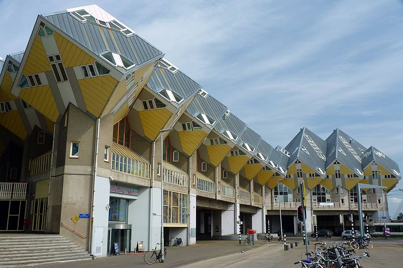 cubic houses rotterdam netherlands 6 Creative Architectural Building Designs