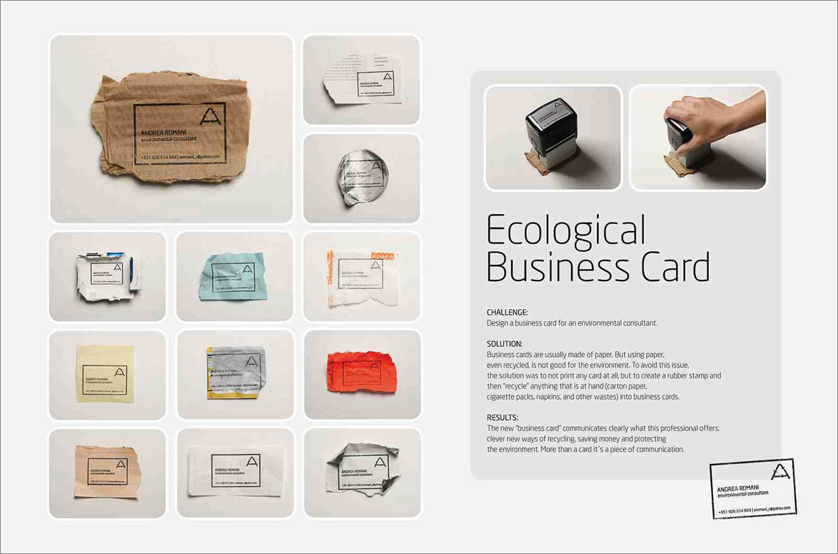 ecologicalbusinesscard11 20+ Environmental Awareness Advertising Campaigns