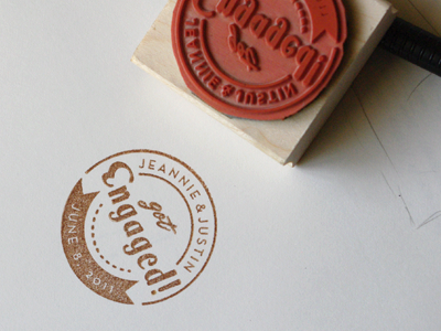 engagement stamp dribbble1 35 Constructive and Appealing Stamp Designs