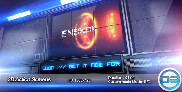 envato after effects project template 3d20action20screens20 20preview1 20 After Effects Templates Inspired by Action Movies