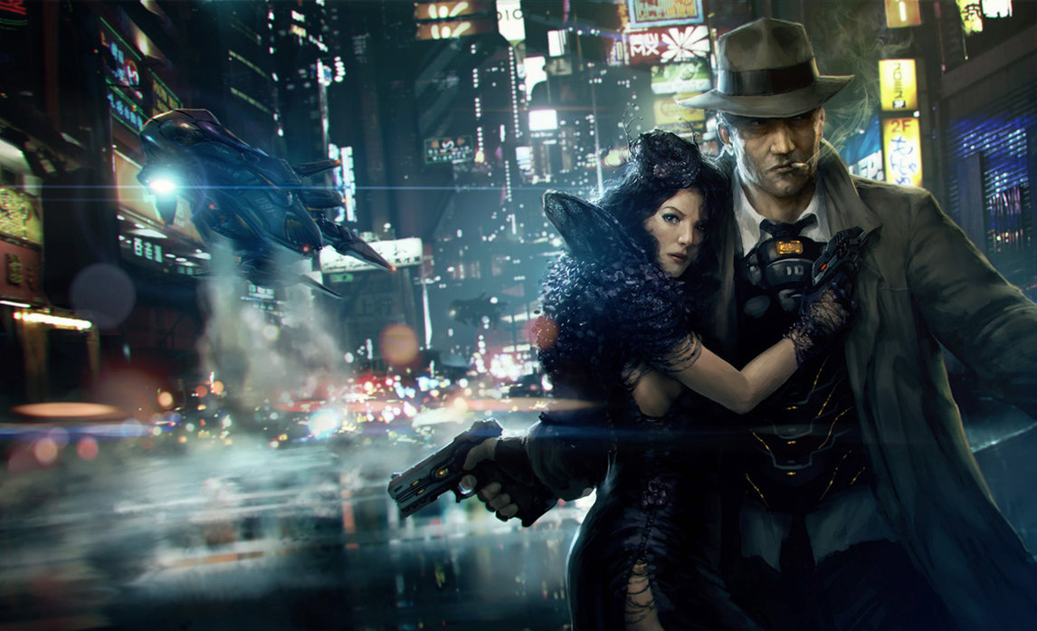escape from neoncity by omen25011 25 Mind Blowing Matte Paintings by Marek Okon