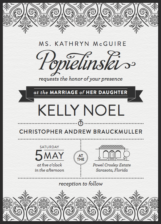 invitation large1 30 Uniquely Designed Wedding Invitations
