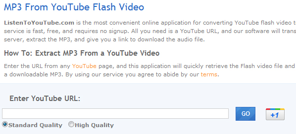 listen to youtube 5 Websites to Convert YouTube Video to mp3