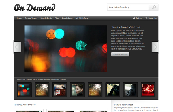 on demand Top 15 Video Themes For Wordpress