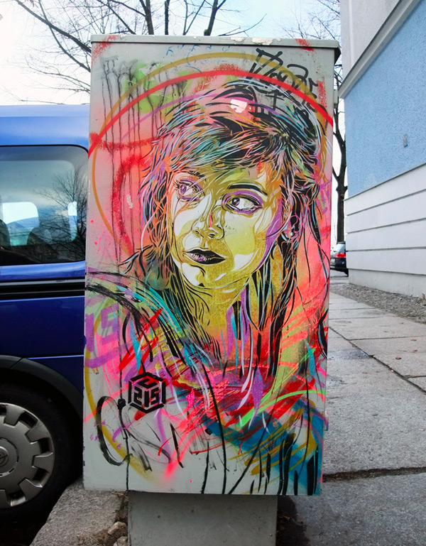 photosof c215 Graffiti Stencil Art by Street Artist C215