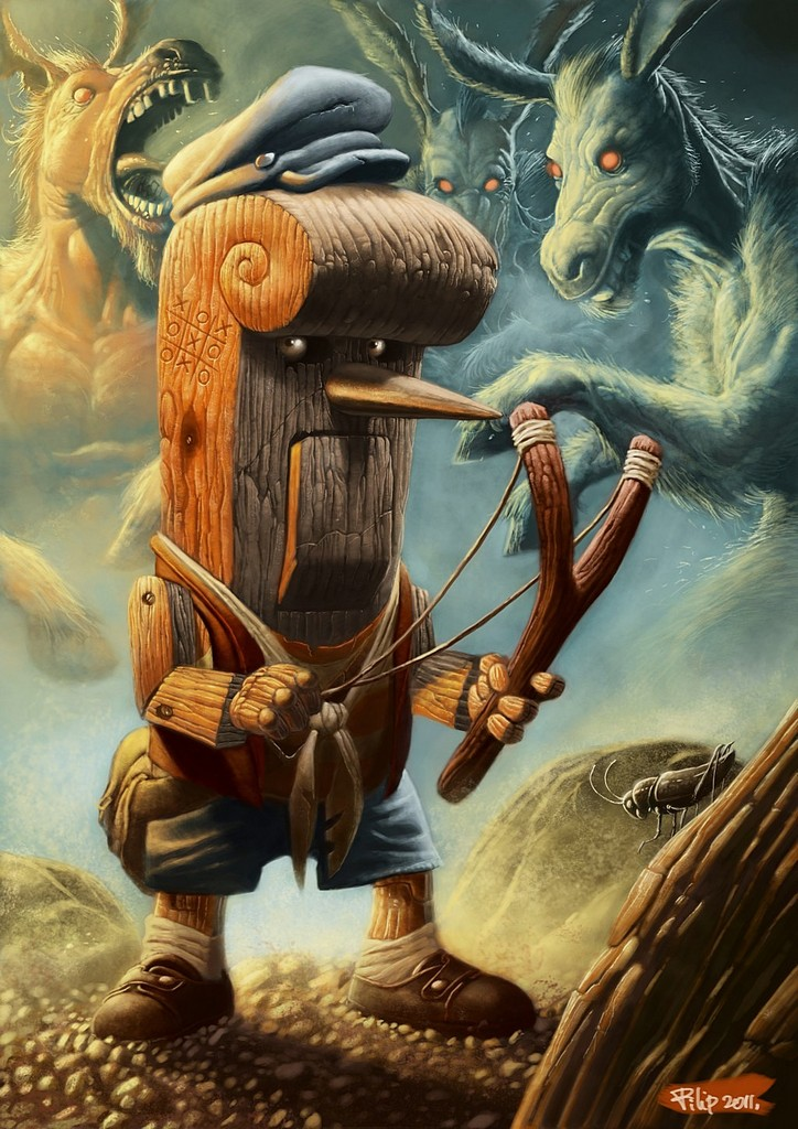 pinocchio by spinebender d3idbal1 45 Fascinating Illustration Designs and Photo Manipulations #4