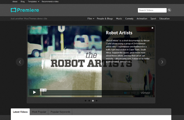 premiere Top 15 Video Themes For Wordpress