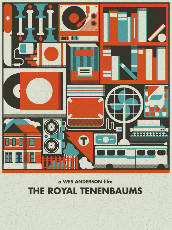 royaltenenbaums Epic Illustrations by Justin Mezzell
