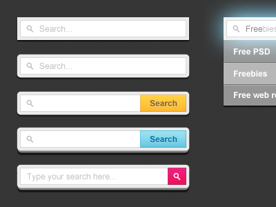 search forms free psd1 45 Beautiful & Functional Search Box Designs