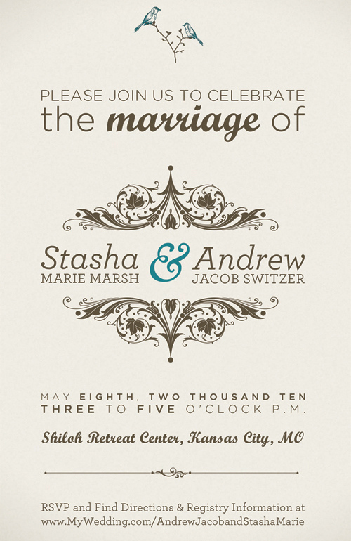 stasha andrew 30 Uniquely Designed Wedding Invitations