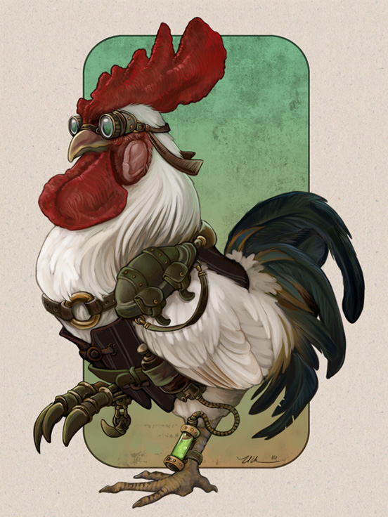 steampunk rooster l1 45 Fascinating Illustration Designs and Photo Manipulations #4