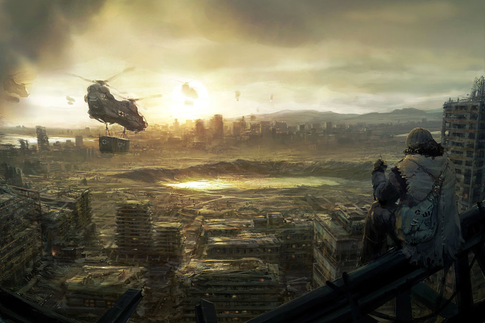 what will be after    by omen25011 25 Mind Blowing Matte Paintings by Marek Okon
