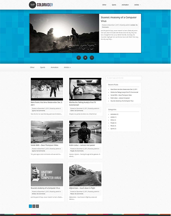 wp colorvideo Top 15 Video Themes For Wordpress