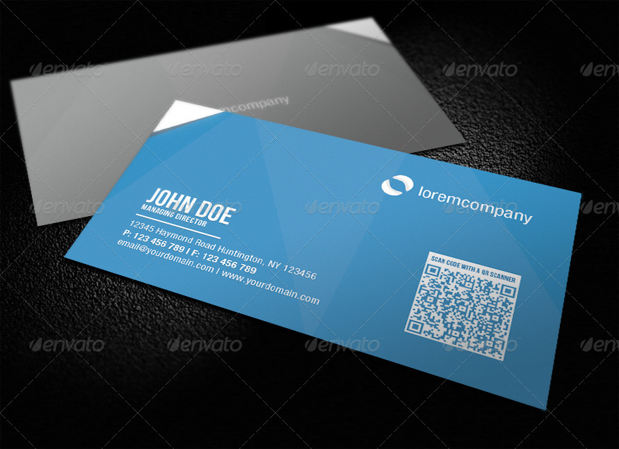 03 corporate qr code bc blue 31 25 Impressive Examples of QR Code Business Cards