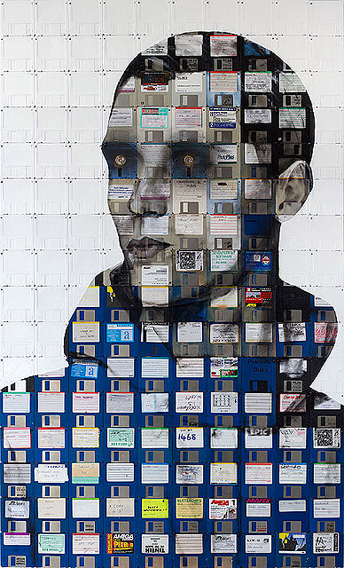 04b1 Floppy Disk Portraits by Nick Gentry