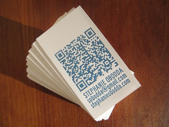1141 25 Impressive Examples of QR Code Business Cards
