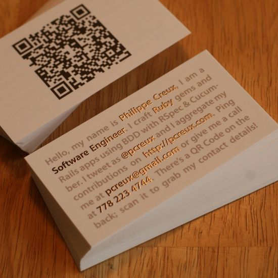 201 25 Impressive Examples of QR Code Business Cards