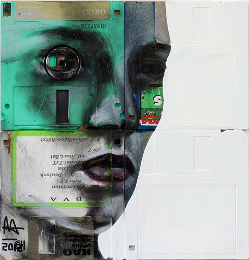 29b1 Floppy Disk Portraits by Nick Gentry