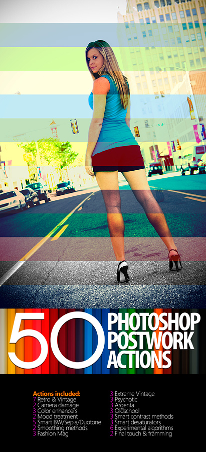 50 photoshop postwork actions by manicho1 20+ Great Free & Premium Photoshop Actions Packs