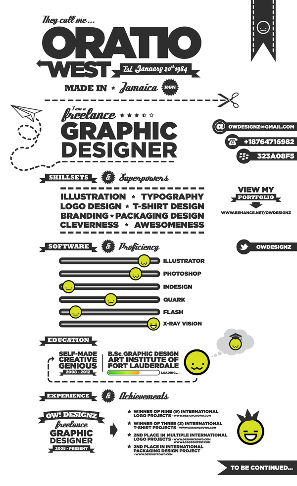 Resume By Oratio West  Creative Graphic Design Resumes