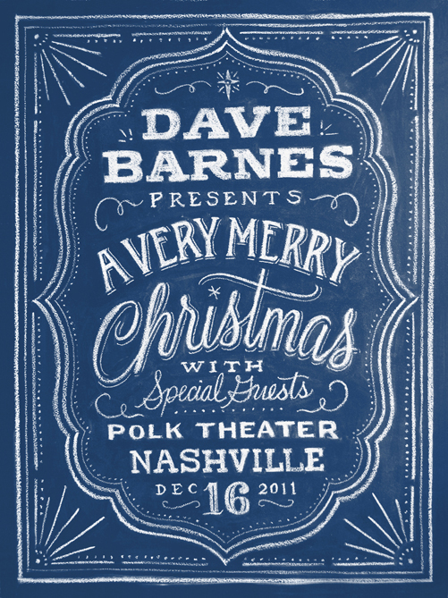 a merry christmas Hand Lettered Chalk Typography By Dana Tanamachi