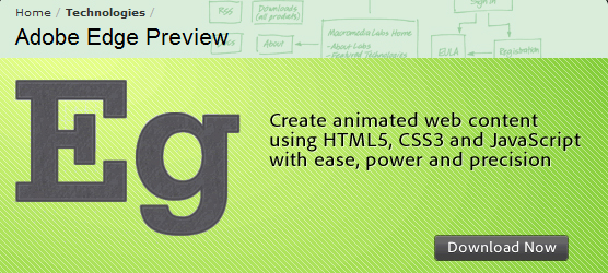adobe edge Three Great HTML5 Animation Tools