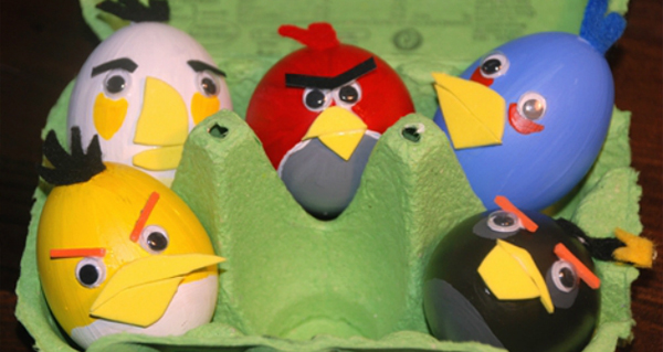 angry birds eggs 30 Creative Examples of Easter Egg Designs