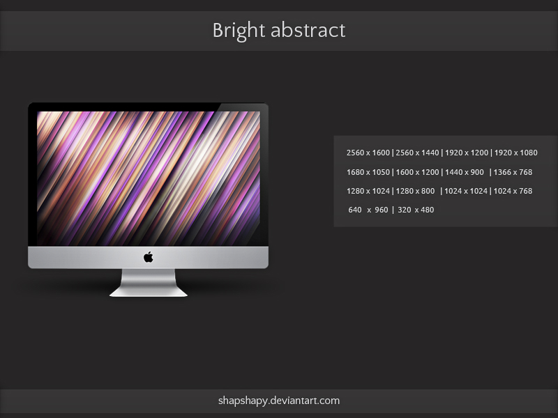bright abstract by shapshapy d4n8e6w1 20 Effectual HD Desktop Wallpapers from deviantART