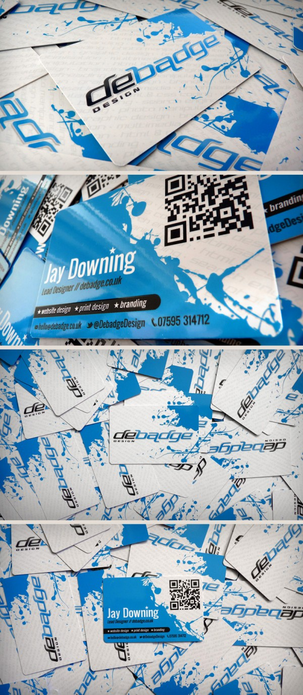 debadge design cards3 600x13721 25 Impressive Examples of QR Code Business Cards
