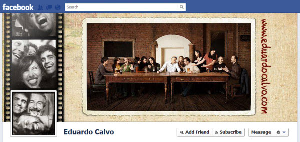 eduardo calvo1 30 Creative Examples of Facebook Timeline Cover Designs #2