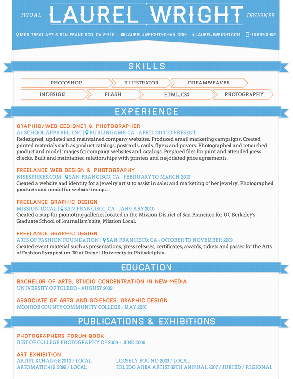 f6e2da11ce019754a1381230cc48aa701 25 Examples of Creative Graphic Design Resumes