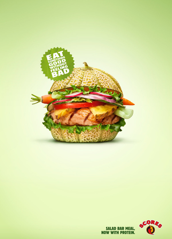 20 creative and eye catching restaurant ads clear designs for Application creation cuisine