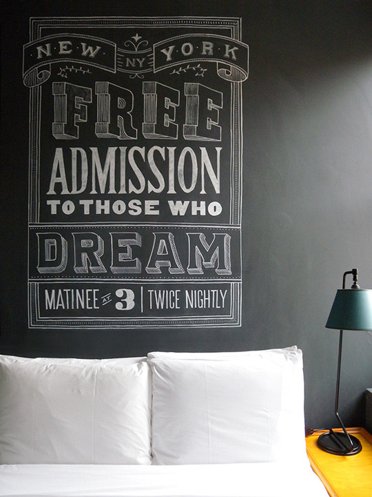 free adission Hand Lettered Chalk Typography By Dana Tanamachi