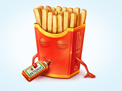 fries1 50 Most Incredible Examples of Icon Design #2