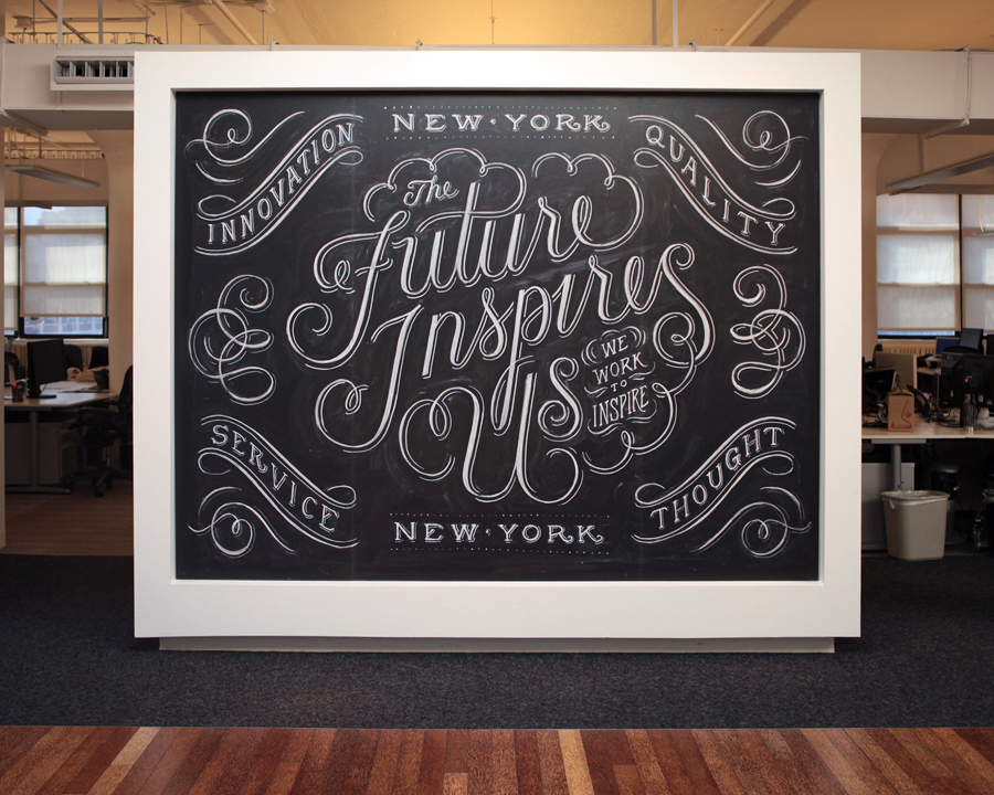 future inspires me Hand Lettered Chalk Typography By Dana Tanamachi