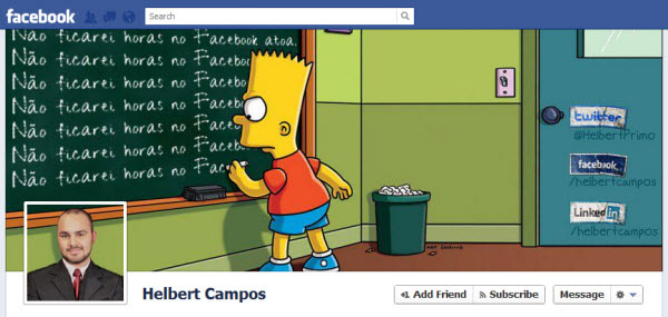 helbert campos1 30 Creative Examples of Facebook Timeline Cover Designs #2