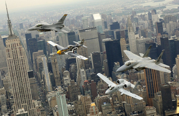 heritage flight over manhatten1 25 Outstanding Examples of Machine Photography