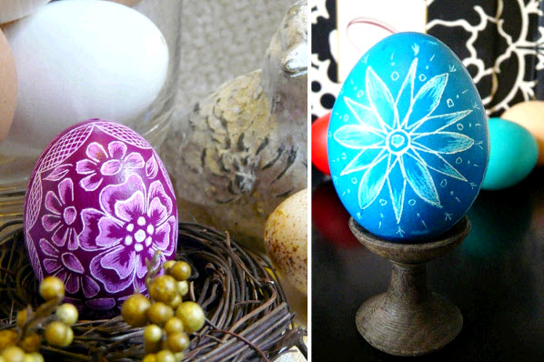 hgtv design happens dying easter eggs hand etched chicken egg teener1416 etsy1 30 Creative Examples of Easter Egg Designs