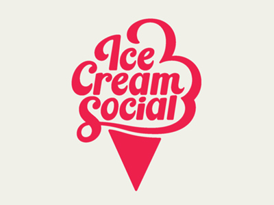 icecreamsocial1 40 Remarkable Examples Of Typography Design #8