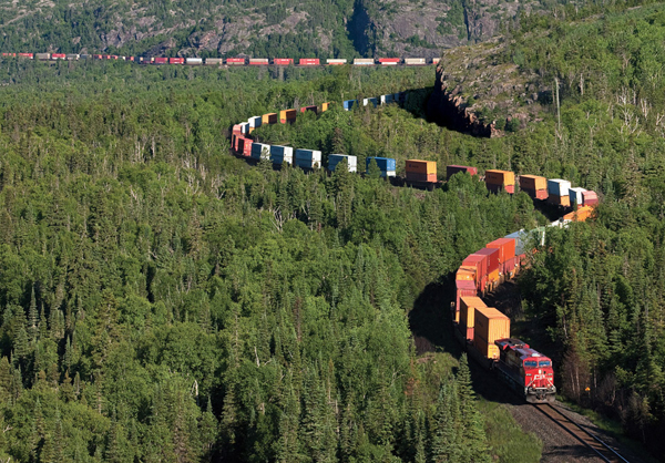 intermodal train northern ontario canada1 25 Outstanding Examples of Machine Photography