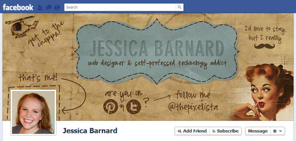jessica barnard1 30 Creative Examples of Facebook Timeline Cover Designs #2